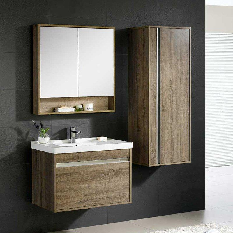 QUEENSWOOD牡丹系列简约现代风单抽浴室柜