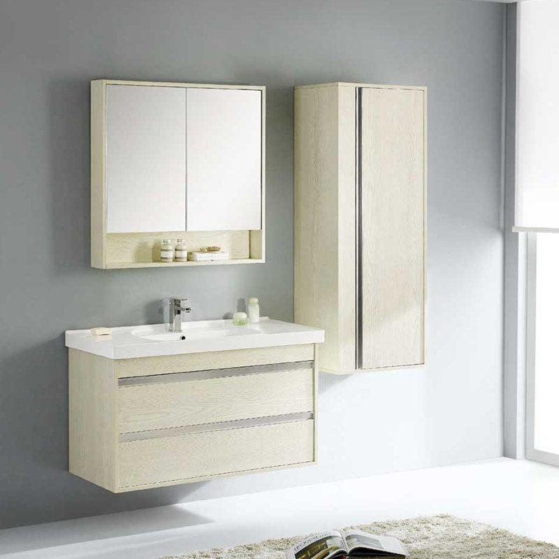 QUEENSWOOD牡丹系列简约现代风双抽浴室柜