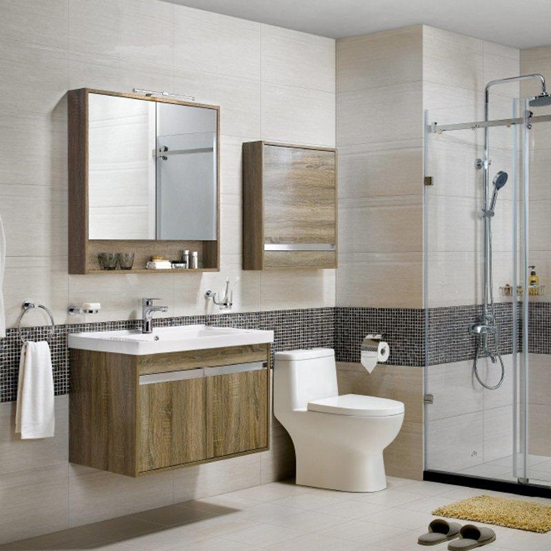 QUEENSWOOD牡丹系列简约现代风双开门浴室柜