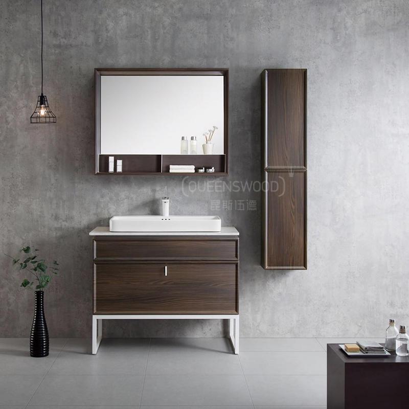 QUEENSWOOD朱比特凝脂哑白系列系列落地浴室柜 -- 专利产品