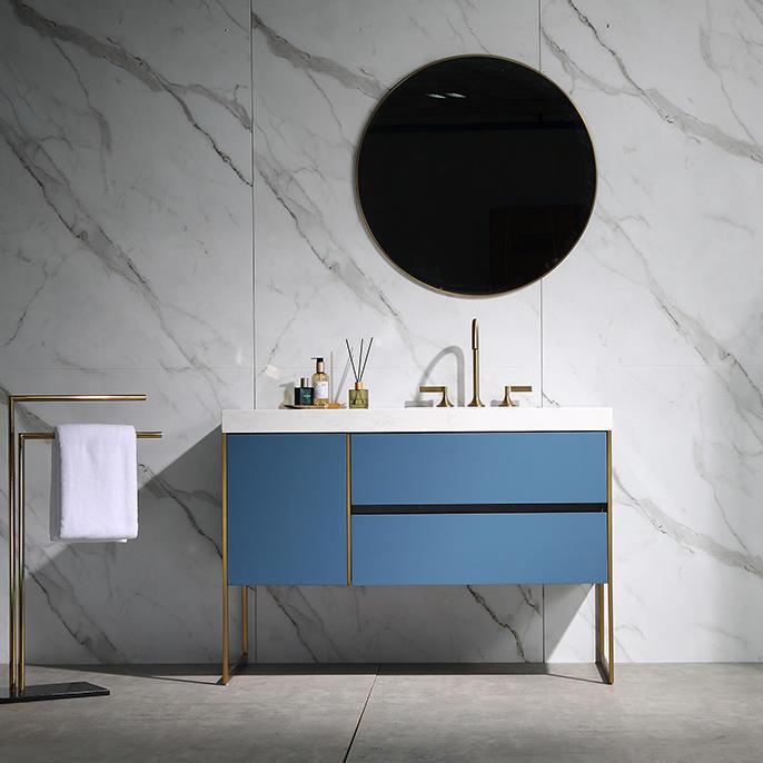 QUEENSWOOD贝拉系列落地浴室柜 -- 轻奢风格